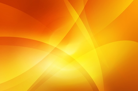 yellow background: Orange and yellow background of abstract warm curves Stock Photo