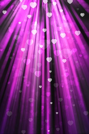 shiny hearts: heart on pink background