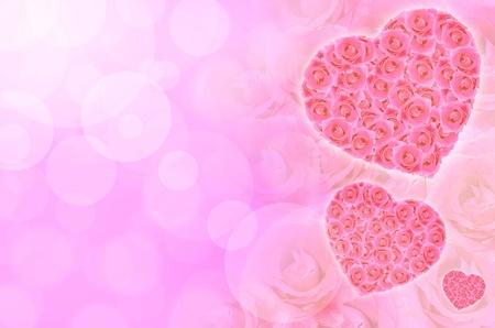 Valentine rose heart photo