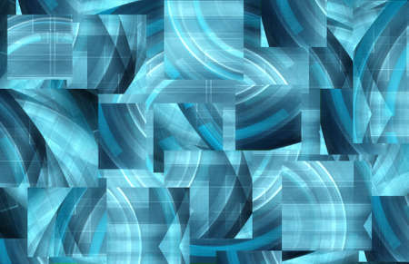 Abstract digital blue background photo