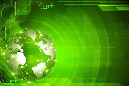 hi tech: Green Earth technology Background