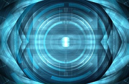abstract blue robot eye photo