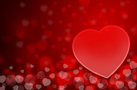 amistad: Fondo rojo con corazones Foto de archivo