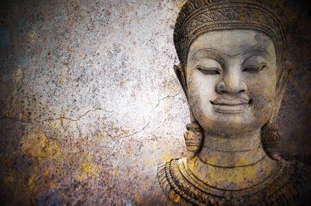 stone buddha: stone architecture Buddha warrior  statue ayutthaya