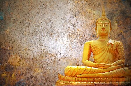 lambent: Statue of Buddha  hard space for your text religion