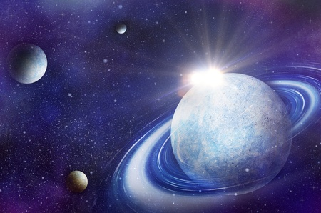 Space flare  A beautiful space scene Stock Photo - 12927640