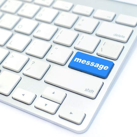 keyboard with message button photo