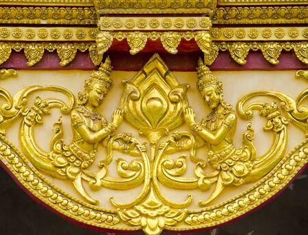 east gate: Art Thai style in temple Wat Phra Mahathat Chedi Chaimongkol