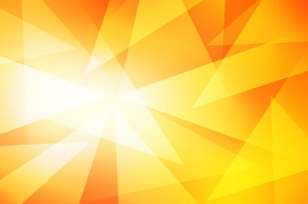 futurist: Orange and yellow background of abstract Triangle