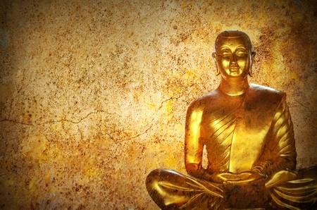 stone buddha: stone Buddha  statue ayutthaya, space four text