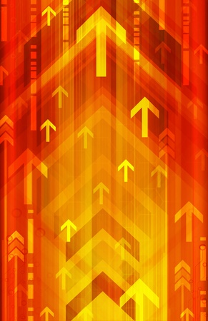 orange arrow: Abstract technology background