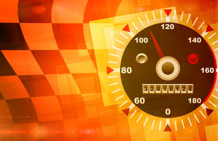 Speed red and orange abstract background Stock Photo - 13659841