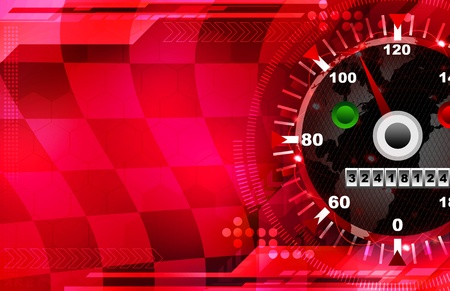 Speed red  abstract Stock Photo - 13659847