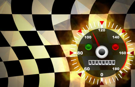 Speed red abstract background Stock Photo - 13659827