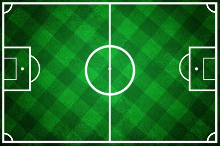 penalty flag: high resolution of a soccer field with checkered grass texture