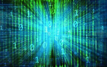 matrix code: internet background with binary code