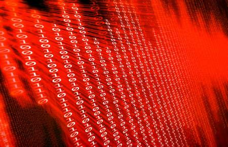 binary numbers, computer technology Stock Photo - 13666311