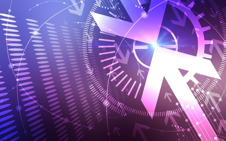 rising graphic: Abstract Blue and pink  Arrows background  Stock Photo