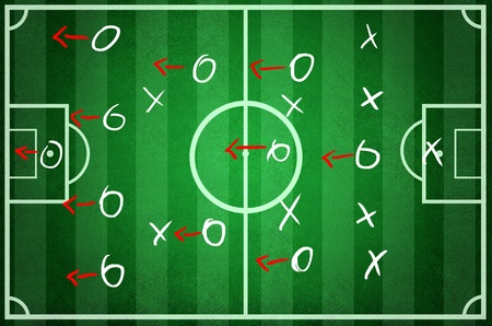 The tactic game of the football plan Stock Photo - 13910866