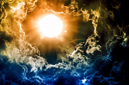dark sky with sun Stock Photo - 13910828