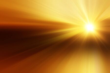 Illustration of a burning sun, or star and beautiful rays illustration