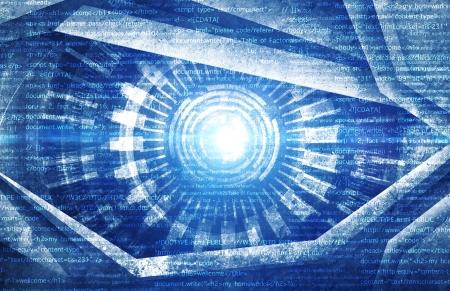 blue eye: Source code technology background