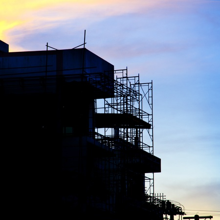 Construction site at dusk photo