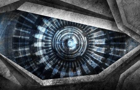 robot: abstrakcyjne tło oko robota