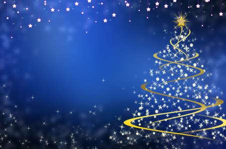 Christmas blue background photo