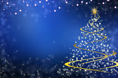 newyear card: Christmas blue background