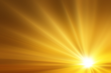 Illustration of a burning sun, or star and beautiful rays of light illustration