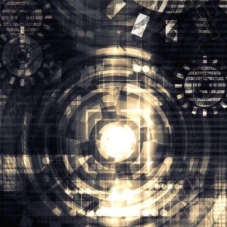 Dark technology background photo