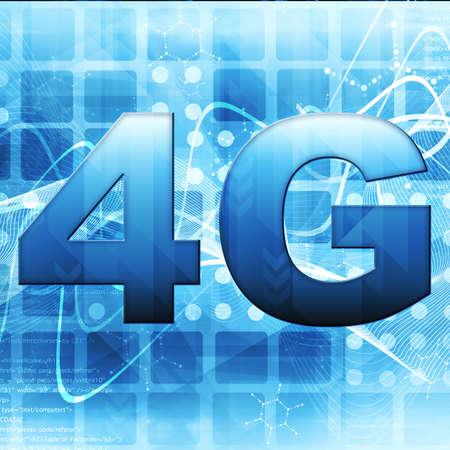 4g: 4G Smart phone display Stock Photo
