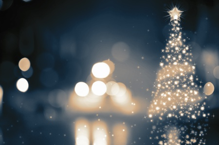 graphic design background: Shinny Christmas Tree, abstract background