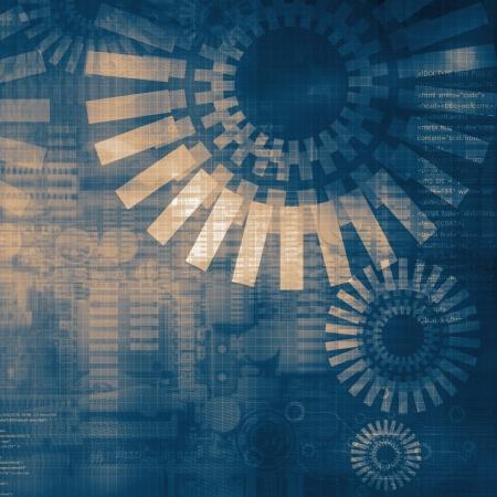 dibujo tecnico: Fondo oscuro azul tecnolog�a