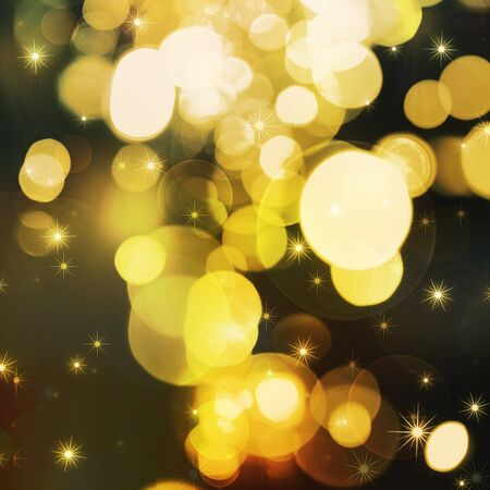Golden festive lights background photo