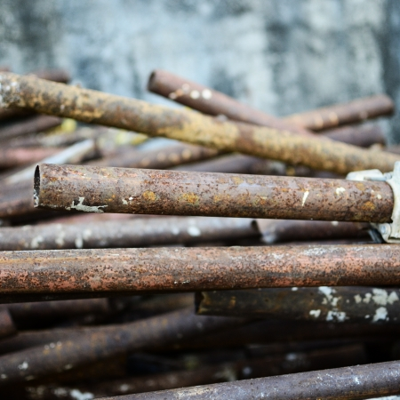 deconstruct: Pipes metal stack Stock Photo