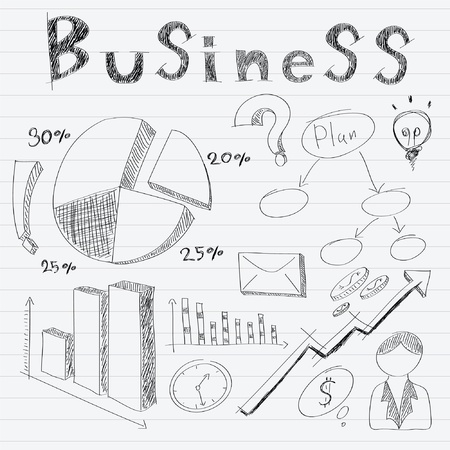 hand drawn business doodles Stock Vector - 16226287