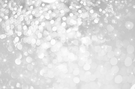solemn: Glittery lights silver abstract Christmas background