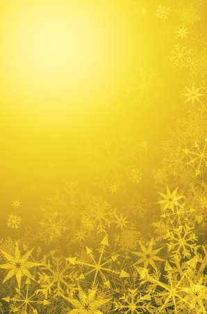 abstract golden Xmas background with snowflakes photo