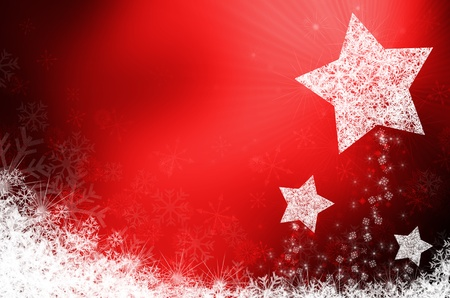 natal: red christmas new year background Stock Photo