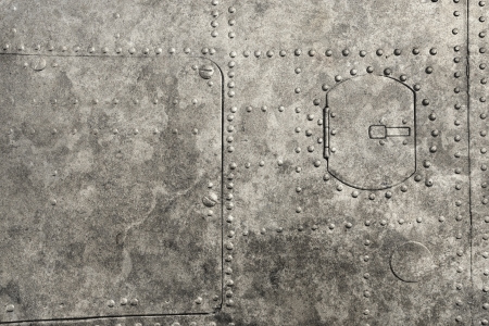 rivets: riveted metal from aircraft