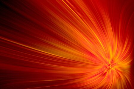 saturated color: Red and yellow rays on black background