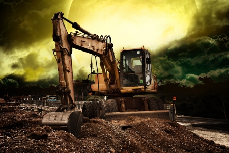 heavy equipment: Truck backhoe