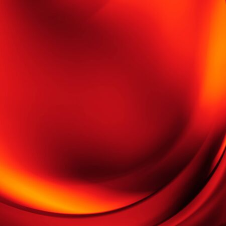 futurist: Orange and red background of abstract warm curves
