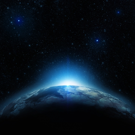 bright space: Earth at night
