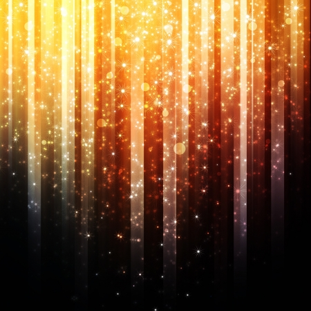 sparks: golden background with shiny lights Stock Photo