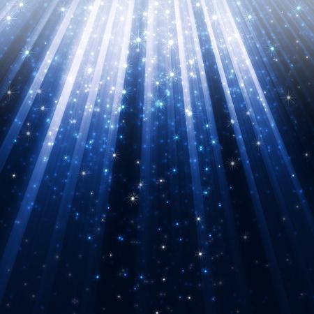 blue glowing lights