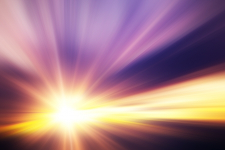 spiritual light: Sunset  sunrise with clouds, light rays and other atmospheric effect