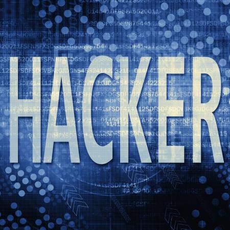 decryption: Hacker Text In blue Code Background